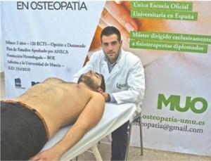 Pablo Velandrino, alumno del Máster de Osteopatía