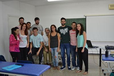 Los alumnos de 2º con el profesor Alejandro Guinea el pasado fin de semana.
