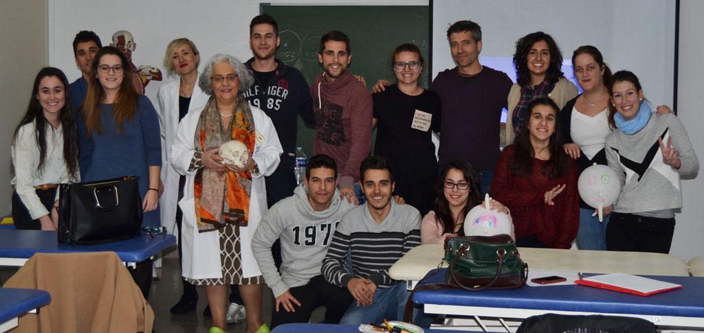 alumnos de 1º del Máster Universitario en Osteopatía
