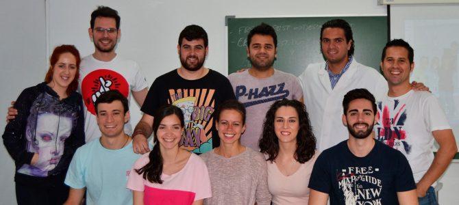 Los alumnos de 2º con el profesor José A. Soler García  durante el último seminario en el que conocieron las Lesiones de 2º grado