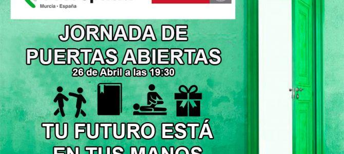 Jornadas de puertas abiertas el 26 de Abril