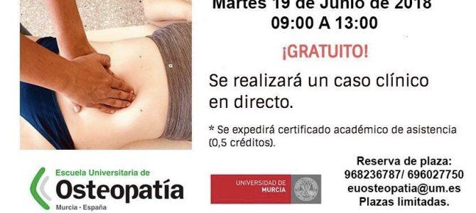 El día 19 de Junio tendrá lugar el Curso de Introducción a la Osteopatía y a la Osteopatía Visceral. Debido a la alta demanda se celebrará en el Salón de Actos (Aula Magna) de la Facultad de Medicina, de la Universidad de Murcia. ¡Ya hay más de 100 asistentes apuntados!¡Últimas plazas disponibles! ¡Reserva ya la tuya!euosteopatia@um.es 968236787/ 696027750