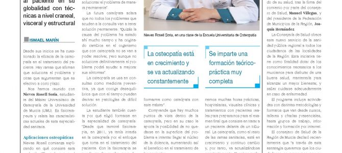 """La Osteopatía es eficaz porque llega al origen del problema"""