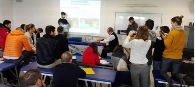 Nuestro director Pepe Soler Ródenas durante la realización del curso de alteraciones psicosomáticas en la Escuela Atman en Niza, durante este fin de semana.