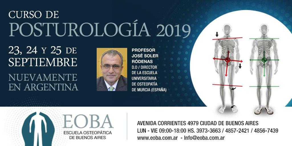 Nuestro director invitado especial , para impartir el curso de Posturología 2019, en la Escuela Osteopatíca de Buenos Aires, Argentina